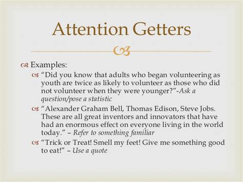 attention getter quotes for speeches