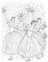 Coloring Nutcracker Ballet Pages Christmas Colouring Printable Dance Adults Printables Tree Dancers Sugar Ballerina Plum Adult Crafts Clara Fairy Ak0 sketch template