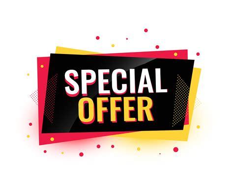 special offer creative sale banner design