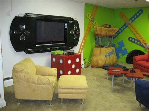 Truly Awesome Video Game Room Ideas-u Me And The Kids