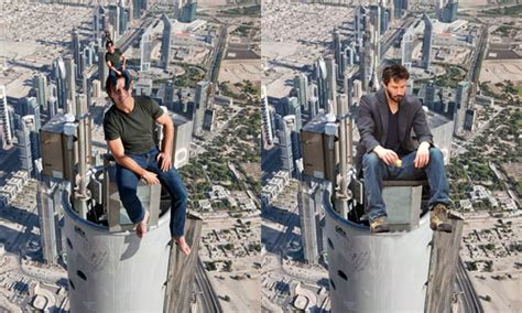 Psbattle Tom Cruise Sitting On Top Of Burj Khalifa 9gag