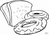 Bread Colouring Coloring Printable Clip Clipart sketch template