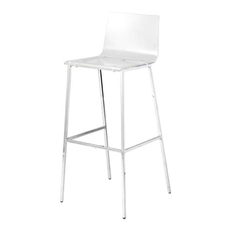miliboo chaises chaise de bar transparente ziloo fr