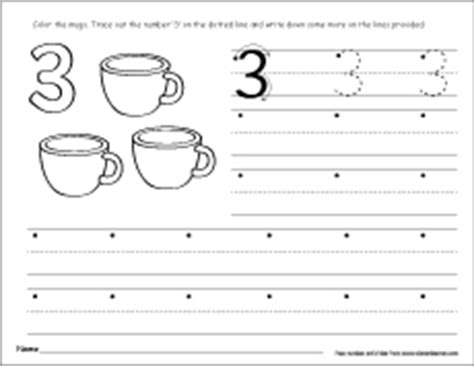 number  writing counting  identification activity