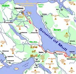 Isle of Mull Scotland Map