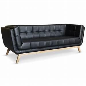 canape scandinave 3 places design noir pas cher british deco With canapé design noir