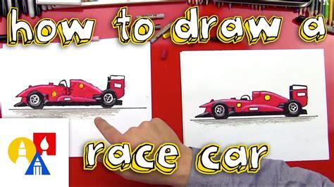 draw  race car youtube