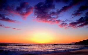 Colorful Beach Sunset HD Wallpaper of Beach ...