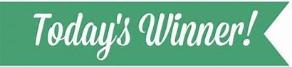 Winner Banner Todays Congratulations Christmas Days Traylor