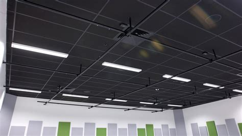 Black Acoustic Ceiling Tiles 2x4 by Hobsonville Point Secondary School Room Study