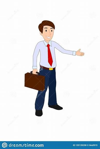 Clipart Businessman Briefcase Case Vector