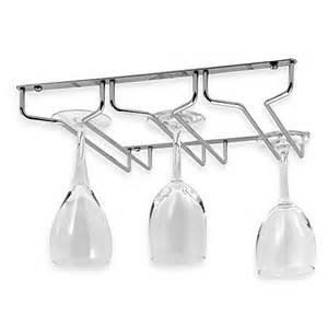 buy oenophilia under cabinet wine glass rack from bed bath