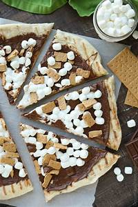 Grilled S'mores Pizza - Dessert Now, Dinner Later!
