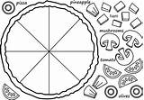 Pizza Own Fractions Coloring Fraction Preschool Worksheets Activities Craft Template Math Etc Kid Crafts Using sketch template