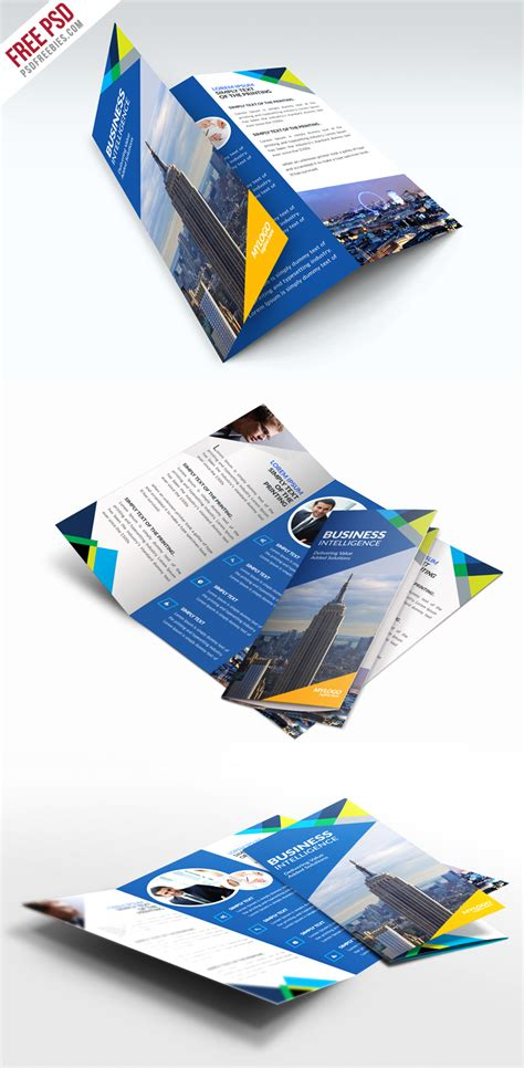 trifold template file free business trifold brochure psd template psdfreebies