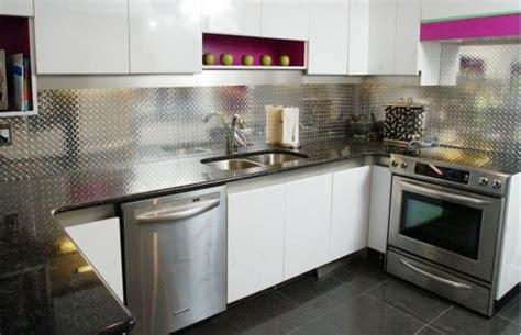 aluminum backsplash kitchen a statement with a metallic kitchen backsplash
