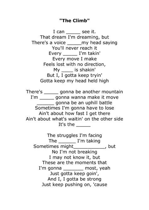 the climb from montana the sheet by miley cyrus lyrics the climb to print