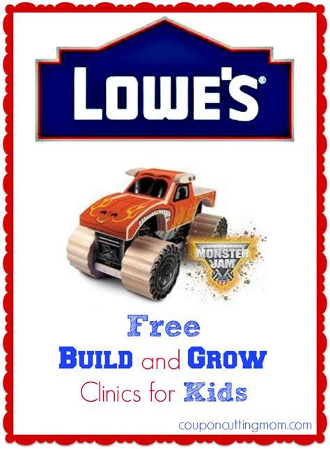 monster truck jam coupons free kids lowe 39 s workshop monster jam truck