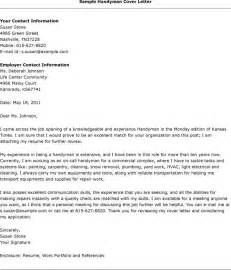 Handyman Resume Cover Letter Exles by A Handyman Resume Exle For Aspiring Handymen Esle