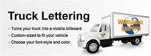Truck door lettering truck door graphics truck decals at for Vehicle lettering design online
