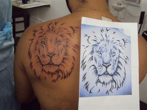 leao sombreado tatuagemcom tatuagens tattoo
