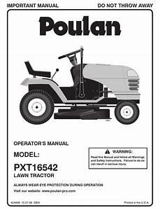 Poulan Pro Pxt16542 Operator U0026 39 S Manual Pdf Download