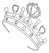 Coloring Princess Crown Fancy Doodles Crowns Colors sketch template