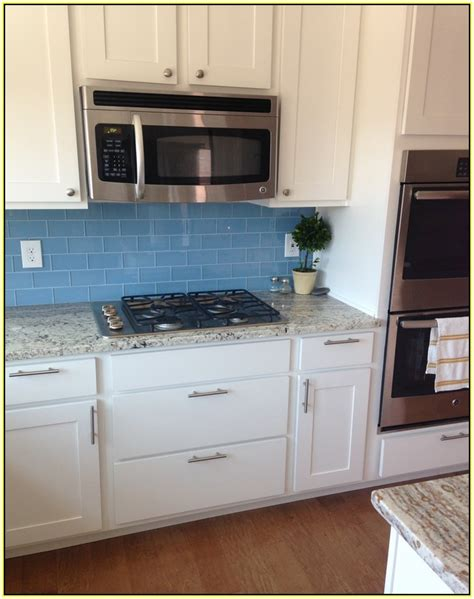 Light Blue Glass Subway Tile Backsplash by Light Blue Glass Subway Tile Backsplash