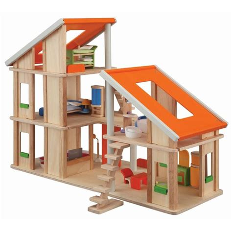 plan toys dollhouse furniture sale plan toys chalet dollhouse with furniture 169 cool