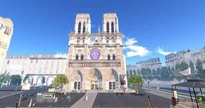 Dame Notre Crowd Right Gathers Second Paris