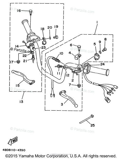 yamaha atv 1996 oem parts diagram for handle switch lever partzilla