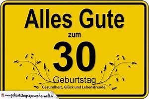 30 Dinge Zum 30 Geburtstag : 30 geburtstag geburtstagsspr che welt ~ Markanthonyermac.com Haus und Dekorationen
