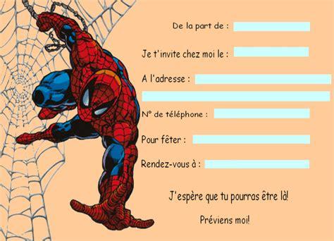 carte invitation anniversaire spiderman