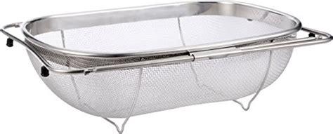 kitchen sink with colander the sink strainer 6 quart stainless steel mesh 6041