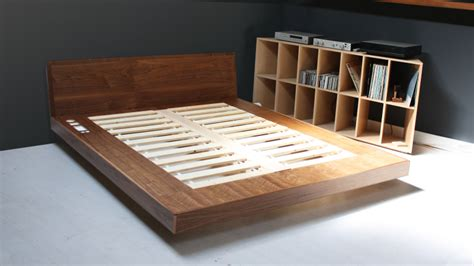 diy build platform bed frame  drawers  work