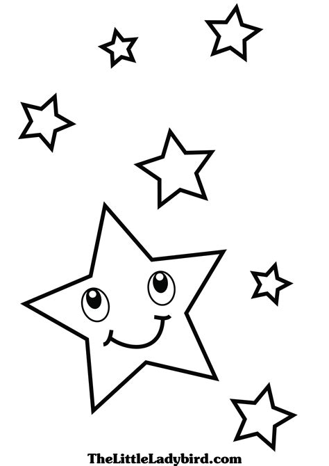 stars coloring pages thelittleladybirdcom
