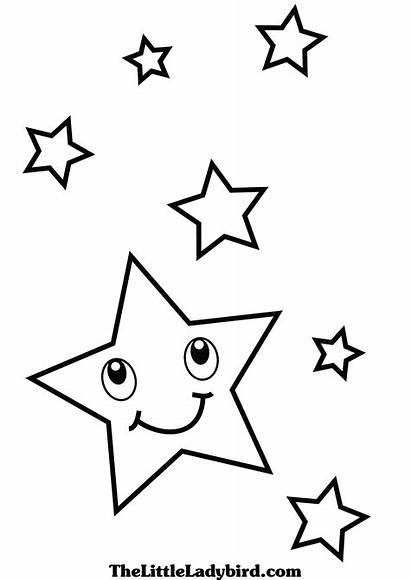 Coloring Stars Star Sky Pages Shooting Shape