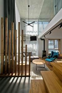 Raumteiler Aus Holz : skandinavischer stil in grau f r moderne loft einrichtung ~ Indierocktalk.com Haus und Dekorationen