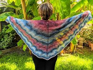 Feather And Fan Knit Shawl Knitting Instructions  With
