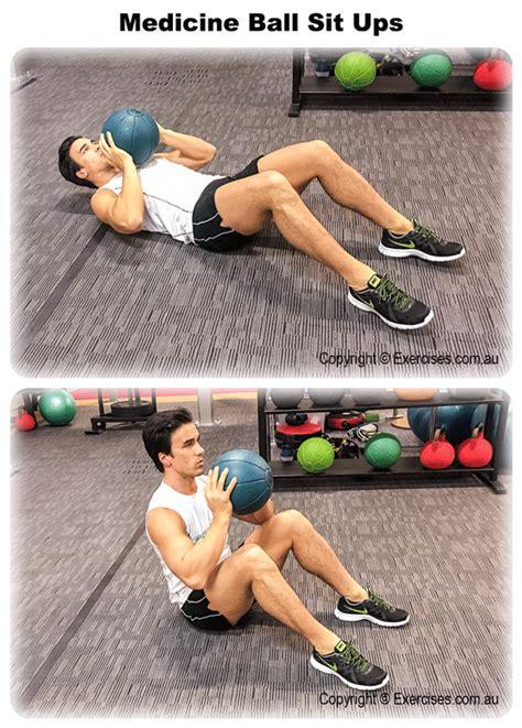 sit ball ups medicine exercises routine