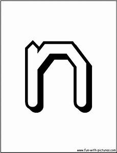 free coloring pages of letter n template With alphabet letter n