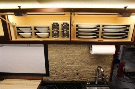 storage dinnerware interior rv plate dish leather campers
