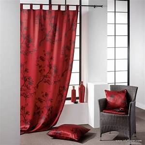 Rideau Rouge Et Noir : d co salon rideau rouge ~ Teatrodelosmanantiales.com Idées de Décoration