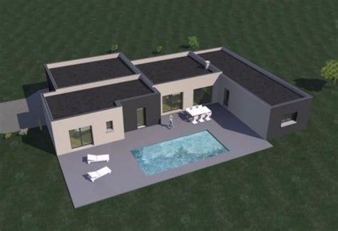 maison moderne plain pied 4 chambres construction 86 fr gt plans maison contemporaine