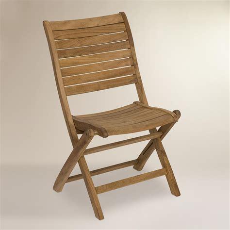 tanjun teak outdoor folding side chairs set   world