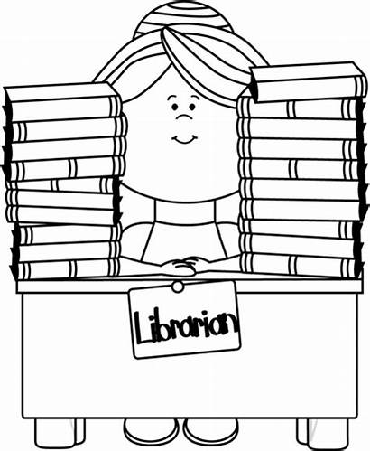 Librarian Clip Clipart Library Cliparts Outline Transparent