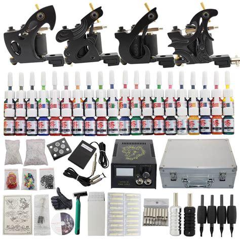 Tattoo Complete Kit Set 4 tattoo machine tips 40 Inks