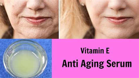 DIY Vitamin E Anti Aging Serum, Glowing, Wrinkle Free Skin