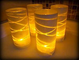 DIY Glass Vase Luminaries