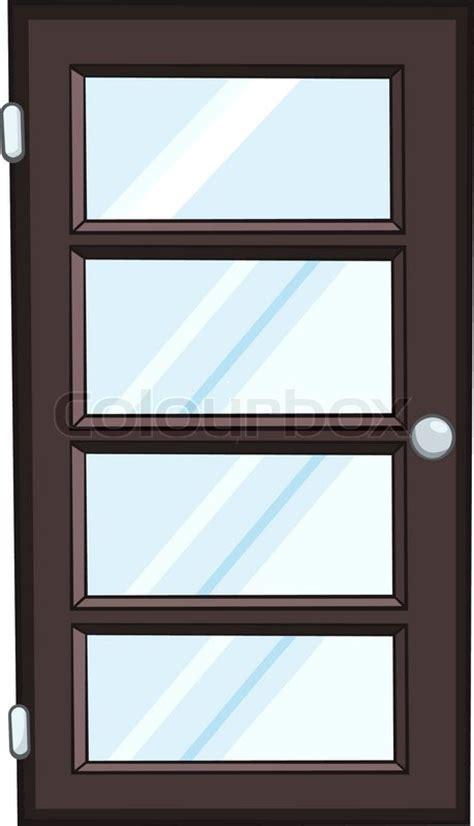 cartoon home door isolated  white background stock